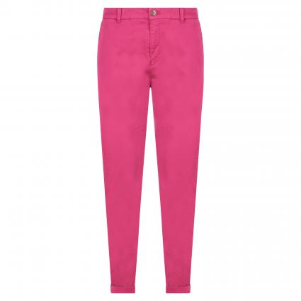 Schmale Hose in Chino-Optik pink (672 Bright Pink) | 40