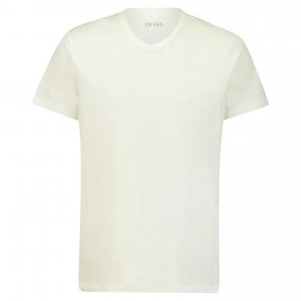 Basic T-Shirt mit V-Ausschnitt weiss (100 White) | XXL