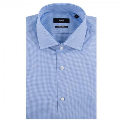 Regular-Fit Hemd 'Gordon' mit Struckturmuster  blau (456 Light/Pastel Blu)   40