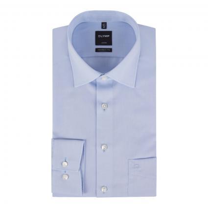 Slim-Fit Hemd 'Luxor' mit Brusttasche blau (11 bleu) | 40