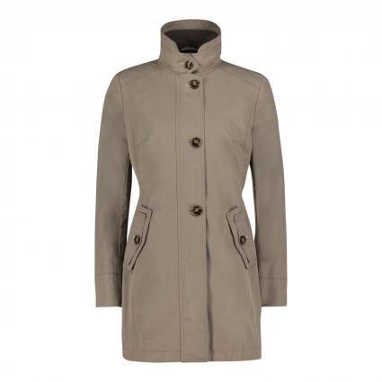 Längere Jacke mit Stehkragen beige (7402 Safari Beige) | 40