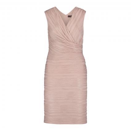 Ärmelloses Kleid aus Strukturgewebe rose (4125 Aura Rosè)   40