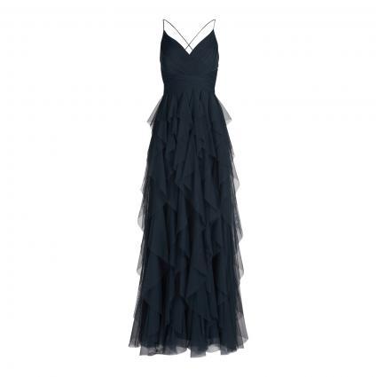 Abendkleid mit effektvollem Tüllrock grün (9145 Moss Grey) | 36