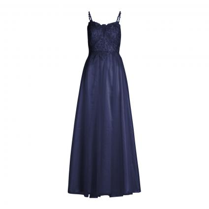 Abendkleid mit Spitzen-Details blau (8423 Festival Blue) | 38