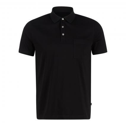 Poloshirt mit Brusttasche schwarz (595 Black)   58
