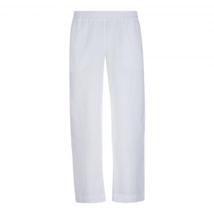 Leinenhose mit elastischem Bund weiss (501 Pure White)   38