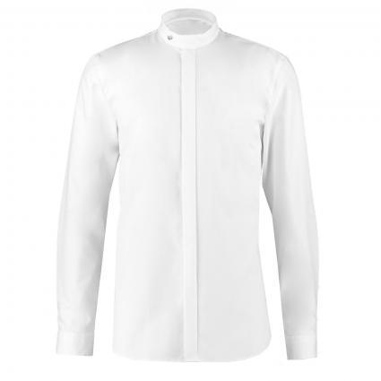 Slim-Fit Hemd 'Everitt' mit Stehkragen weiss (199 Open White) | 43