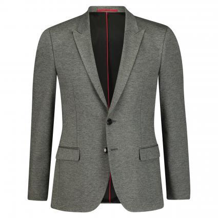 Extra Slim-Fit Sakko 'Arti' aus grau meliertem Jersey grau (081 Open Grey) | 52