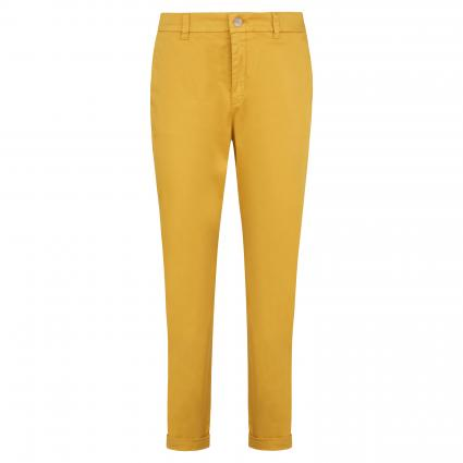 Slim-Fit Chinohose 'Sachini' gelb (704 Dark Yellow) | 44