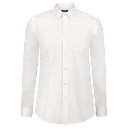 Slim-Fit Hemd 'Isko' mit feiner Struktur weiss (100 White) | 40
