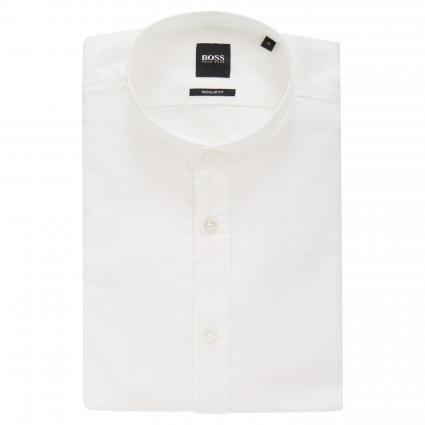 Hemd im Regular Fit aus Baumwolle weiss (100 White) | M