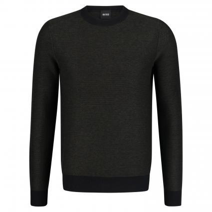 Pullover 'Akanicos' mit Rundhalsausschnitt schwarz (001 Black) | L