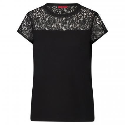 T-Shirt 'Dunya' mit Spitze schwarz (001 Black)   M
