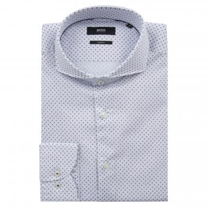 Slim-Fit Hemd 'Jemerson' mit Musterung pink (662 Medium Pink) | 42