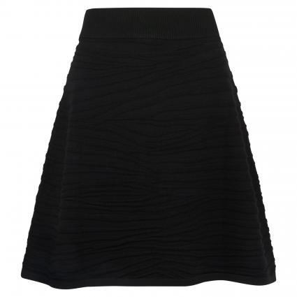 Rock 'Solaina' mit Strukturmuster schwarz (001 Black) | M