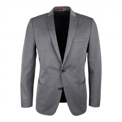 Slim-Fit Jersey-Sakko mit Karomuster  grau (A030 MEDIUM GREY) | 48