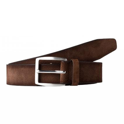 Gürtel aus Leder braun (52 dark brown) | 85