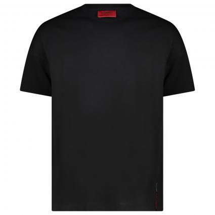 T-Shirt 'Dalypso' mit Rundhalsausschnitt aus Pima-Baumwolle und Stretch schwarz (001 Black) | XS