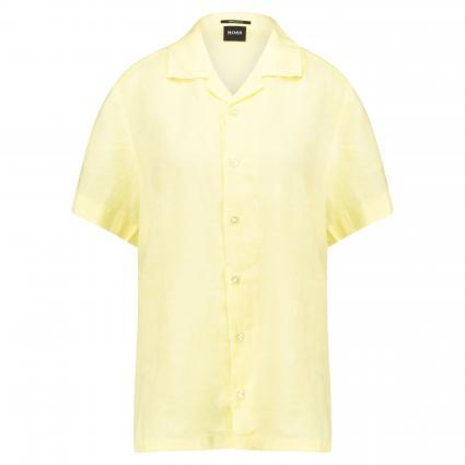 Regular-Fit Hemd 'Rhythm' aus Leinen gelb (744 Light/Pastel Yel) | L