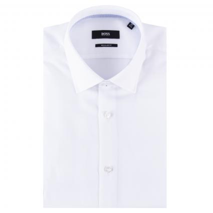 Regular-Fit Hemd 'Gelson' mit Struckturmuster  weiss (100 White) | 41
