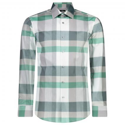 Slim-Fit Hemd 'Jango' mit All-Over Karo Muster  grün (316 Medium Green) | 43