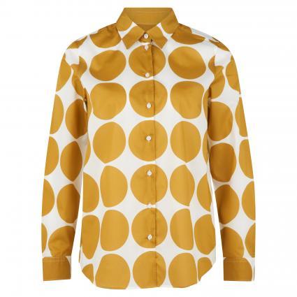 Bluse mit Punkte-Print gold (62 62 GOLDEN PALM) | 34