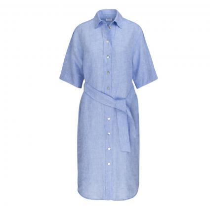 Hemdblusenkleid mit Bindegürtel blau (18 18 BLAU) | 38