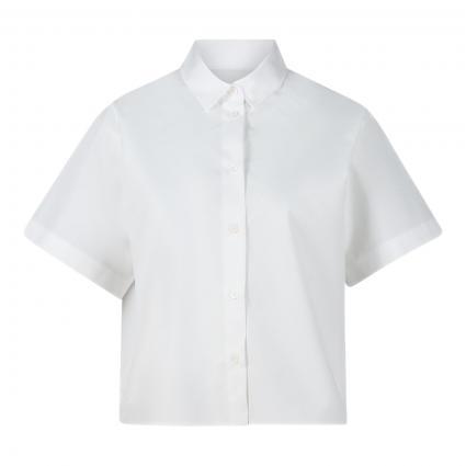 Kurzärmelige Bluse weiss (1 1 WEIß)   36