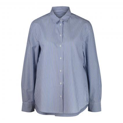 Bluse mit Streifenmuster blau (13 13 MITTELBLAU) | 44