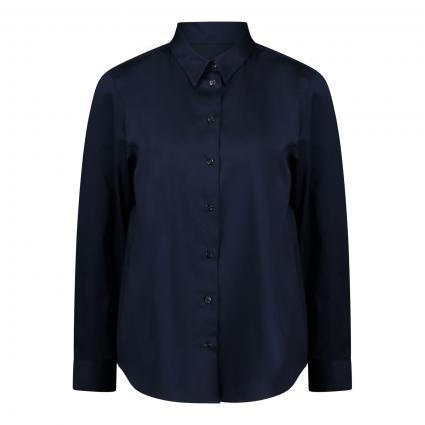 Bluse aus Baumwollfaser marine (19 19 DUNKELBLAU) | 42