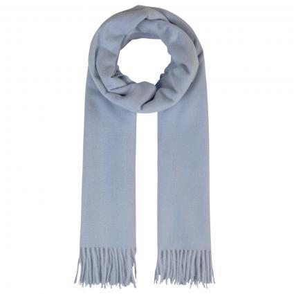 Schal mit Fransen blau (08 light blue) | 0