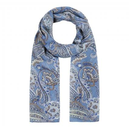 Schal mit All-Over Muster blau (38 jeans blue) | 0