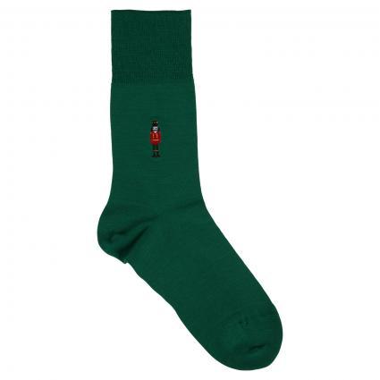 Socken mit Stickerei grün (7408 golf) | 39/40
