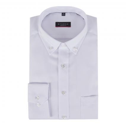 Modern-Fit Hemd mit Button-Down Kragen weiss (00 weiss) | 44