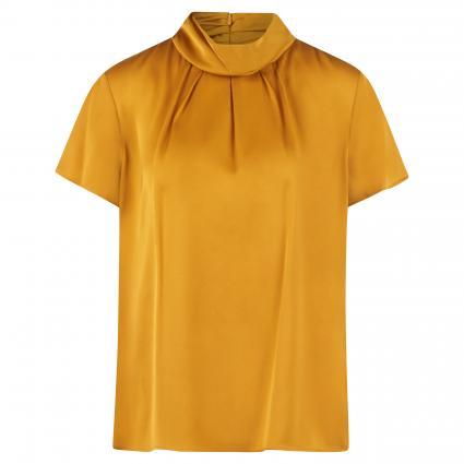 Seidenbluse 'Civeri' mit Kurzarm gelb (702 Dark Yellow) | 38