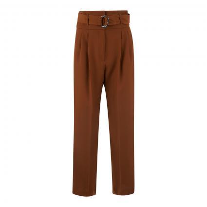 Weite Hose 'Hilovi' mit Bundfalten und Gürtel braun (222 Rust/Copper)   34