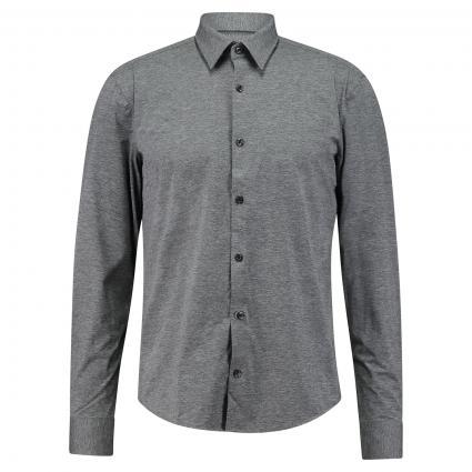 Slim-Fit Hemd 'Ermo' aus Jersey anthrazit (016 Charcoal) | L