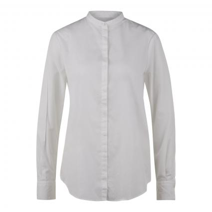 Bluse mit Stehkragen weiss (100 White) | 38