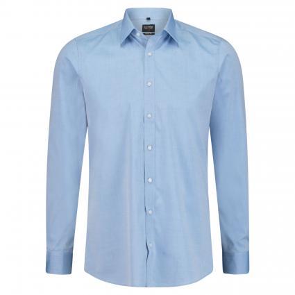 Body-Fit Hemd mit Strukturmuster  blau (19 royal) | 41