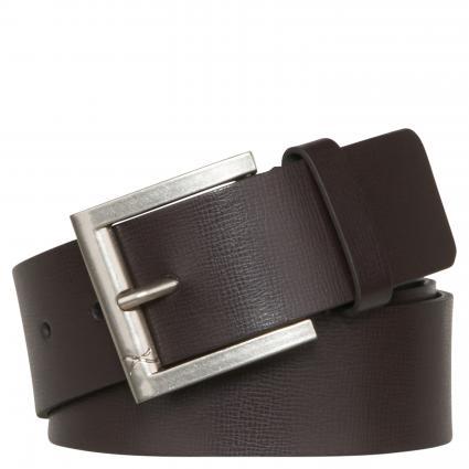 Gürtel aus Leder braun (52 dark brown) | 95