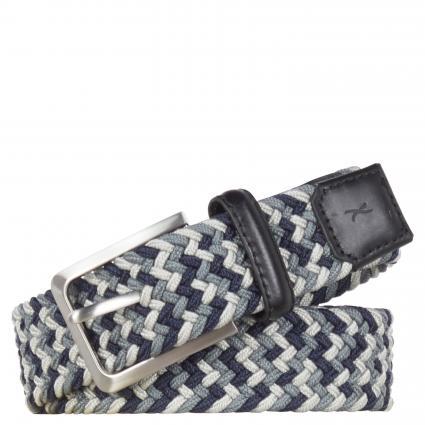 Textiler Gürtel in Flecht-Optik grau (04 grey/ocean) | 100