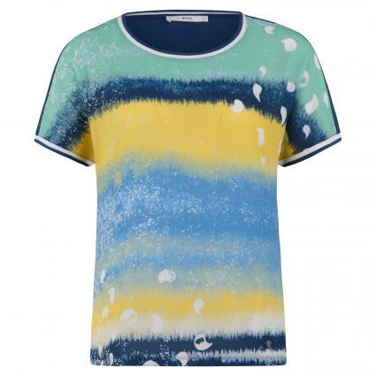 Blusenshirt 'Caelen' mit Musterung blau (23 INDIGO) | 34