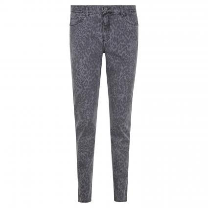 Slim-Fit Jeans 'Shakira' mit Leoparden-Muster grau (04 CLEAN GREY) | 38