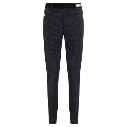 Pantalon confort'Lillyth' avec élastique à la taille bleumarine (23 NAVY) | 18