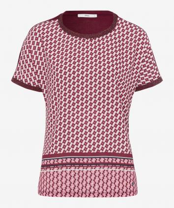 T-Shirt 'Caelen' mit All-Over Print  lila (82 raisin)   36