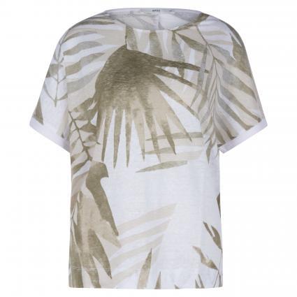 T-Shirt 'Rachel' mit Blatt-Muster  beige (59 BEACH) | 48