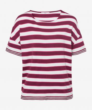 T-Shirt 'Rachel' mit All-Over Streifenmuster  lila (82 raisin)   38