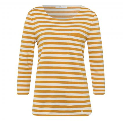 T-Shirt 'Bonnie' mit Streifenmuster gelb (64 BUTTERNUT) | 36