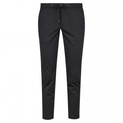 Cropped-Fit Hose mit Strukturmuster schwarz (02 BLACK) | 46