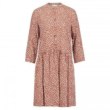 Kleid mit All-Over Print cognac (N73 multi/cinnamon b) | M